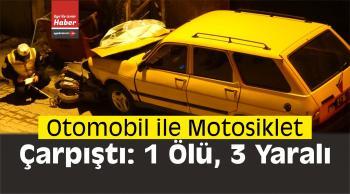 Kütahya'da Otomobil ile Motosiklet Çarpıştı: 1 Ölü, 3 Yaralı