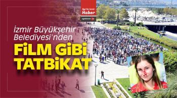 İzmir Büyükşehir Belediyesi'nden Film Gibi Tatbikat