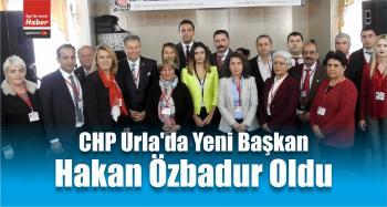 CHP Urla'da Yeni Başkan Özbadur Oldu