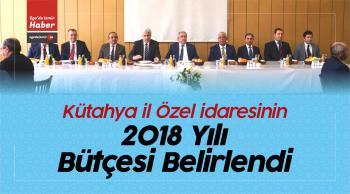 Kütahya il Özel idaresinin 2018 Yılı Bütçesi Belirlendi