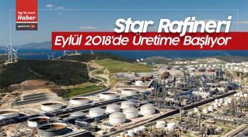 Star Rafineri, Eylül 2018 Tarihinde Üretime Başlıyor