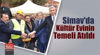 Simav'da Kültür Evinin Temeli Atıldı