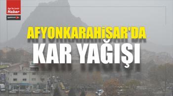 Afyonkarahisar'da, Kent Merkezinde Kar Yağışı Başladı