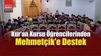 Kur'an Kursu Öğrencilerinden Mehmetçik'e Destek