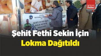 İzmir Motosiklet Kulübü Aliağa'da Şehit Fethi Sekin İçin Lokma Dağıttı