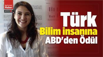 Türk Bilim İnsanına ABD'den Ödül