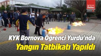 KYK Bornova Öğrenci Yurdu'nda Yangın Tatbikatı Yapıldı
