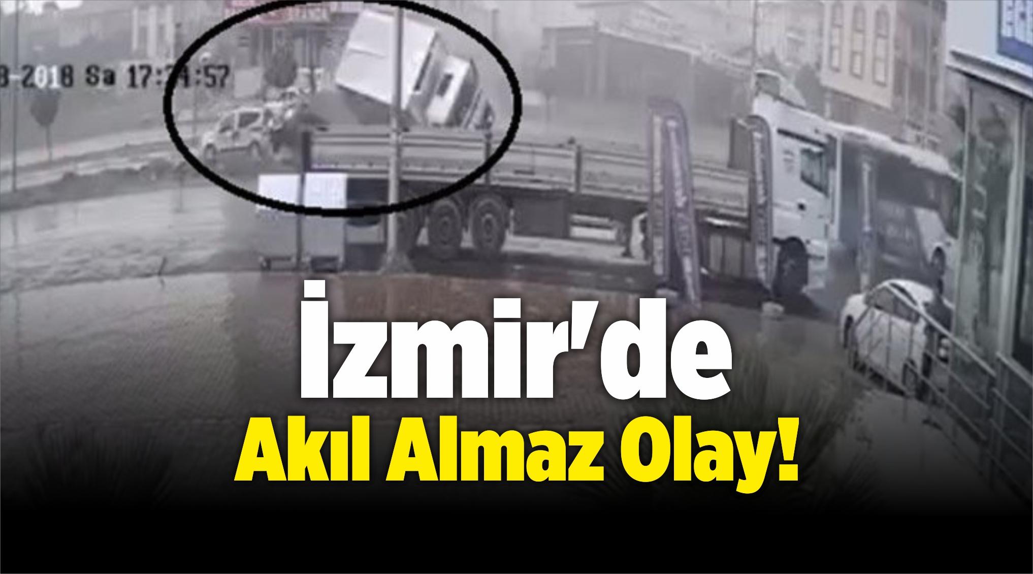 İzmir'de Akıl Almaz Olay! Süt Kamyonu…