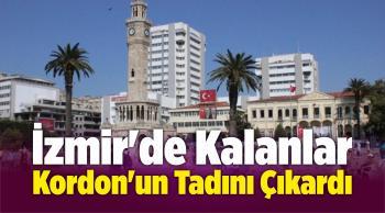 İzmir'de Kalanlar Kordon'un Tadını Çıkardı