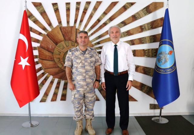 Başkan Saraçoğlu, Tuğgeneral Gündüz e Yeni Görevinde Başarılar Diledi