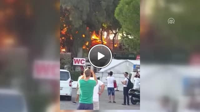 Bodrum da Kafede Yangın