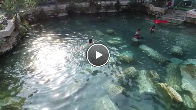 Denizli Tarihi Kalıntılar İçinde Yüzmenin Keyfini Çıkardılar
