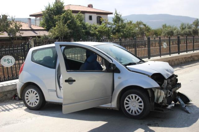Menteşe de Trafik Kazası; 1 Yaralı