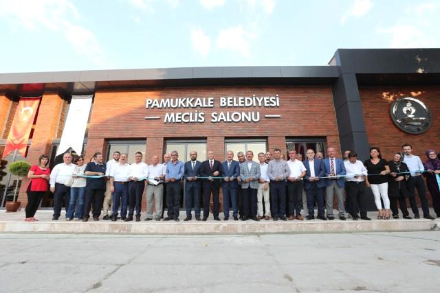Pamukkale Belediyesi nin Yeni Meclis Salonu Törenle Açıldı