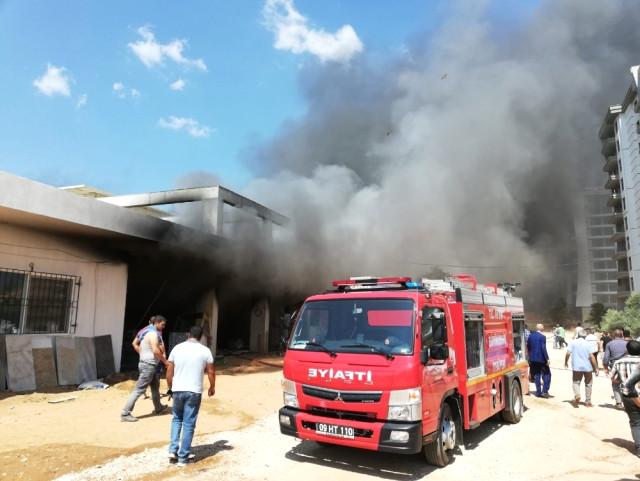 Rezidans İnşaatında Korkutan Yangın