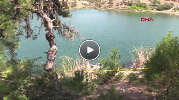 Uşak Otomobil Gölete Uçtu, Aynı Aileden 4 Kişi Öldü