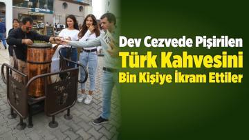 İzmir Kahve Festivali'nde Pişirilen Türk Kahvesini Bin Kişiye İkram Ettiler
