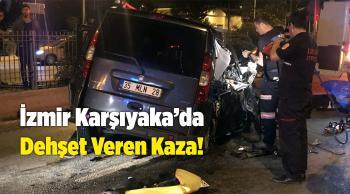 Hafif Ticari Araç Kamyona ve Refüje Çarptı!