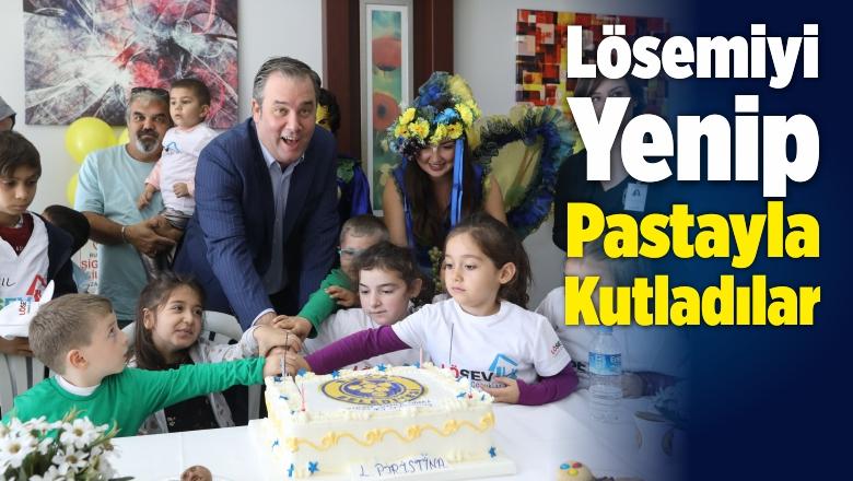 Lösemiyi Yenen Çocuklar Zaferlerini Pastayla Kutladılar