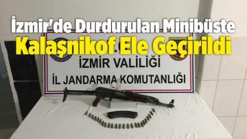 İzmir'de Durdurulan Minibüste Kalaşnikof Ele Geçirildi