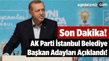 Son Dakika! AK Parti İstanbul Belediye Başkan Adayları Açıklandı!