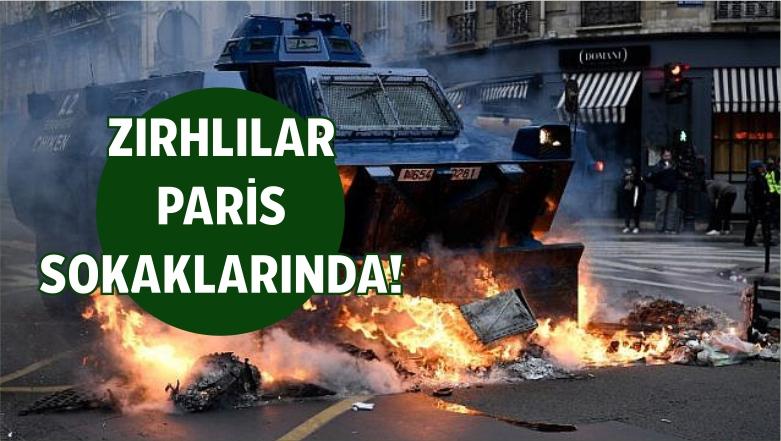 Fransa'da Zırhlı Araçlar İlk Defa Sokağa İndi