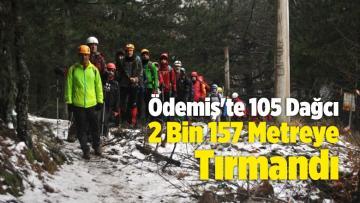 Ödemiş'te 105 Dağcı 2 Bin 157 Metreye Tırmandı