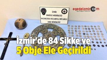 İzmir'de 84 Sikke ve 5 Obje Ele Geçirildi