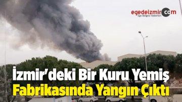 İzmir'deki Bir Kuru Yemiş Fabrikasında Yangın Çıktı