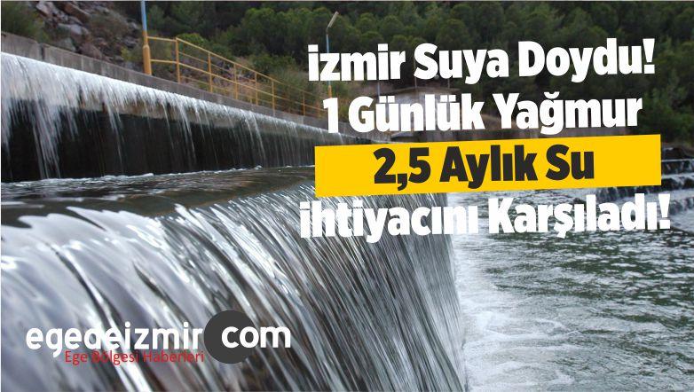 izmir Suya Doydu! 1 Günlük Yağmur 2,5 Aylık Su ihtiyacını Karşıladı!