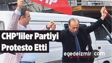 CHP'liler Partiyi Protesto Etti