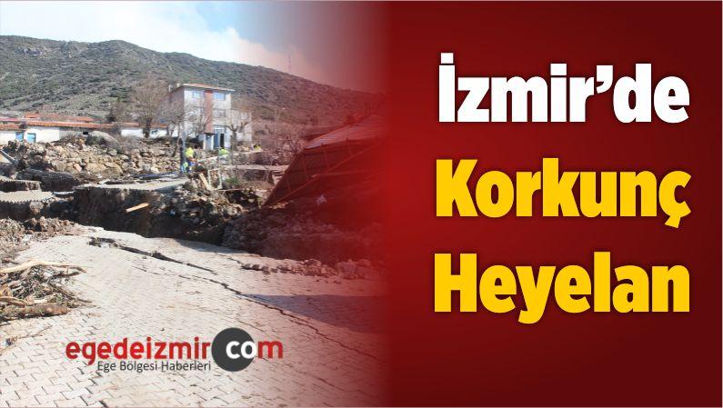 İzmir'de Korkunç Heyelan