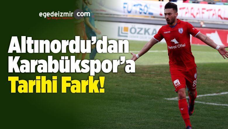 Altınordu Kardemir Karabükspor'u 6-0'lık Skorla Mağlup Etti