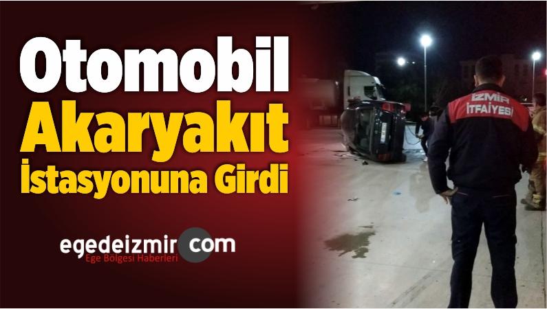 Otomobil Akaryakıt İstasyonuna Girdi: 2 Yaralı