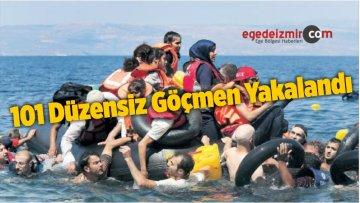 İzmir'de 101 Düzensiz Göçmen Yakalandı