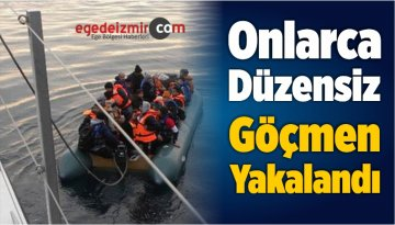 İzmir'in Dikili İlçesinde Onlarca Düzensiz Göçmen Yakalandı