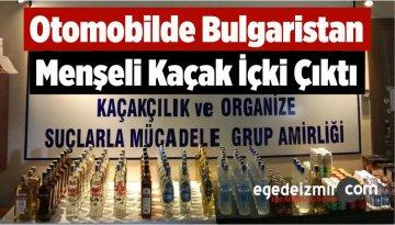 Otomobilde Bulgaristan Menşeli Kaçak İçki Çıktı