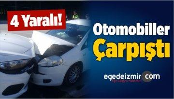 İzmir'in Aliağa İlçesinde Otomobiller Çarpıştı: 4 Yaralı