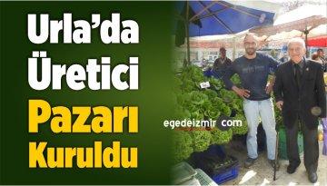 Urla'da Üretici Pazarı Kuruldu