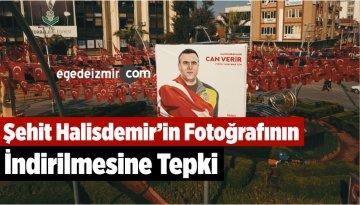 Şehit Halisdemir'in Fotoğrafının İndirilmesine Tepki