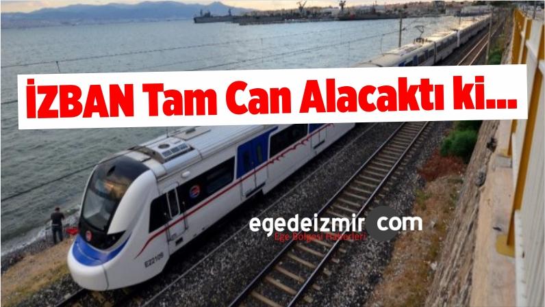 İzmir'de Dengesini Kaybeden Bir Kişi İZBAN Raylarına Düştü