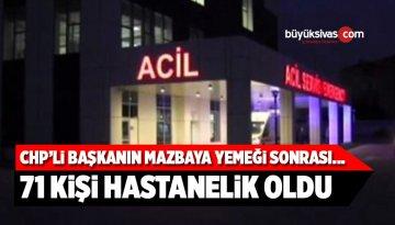 Teşekkür Yemeğinden Zehirlenen 71 Kişi Hastaneye Kaldırıldı