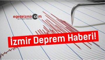 İzmir Deprem Haberi! İzmir Karaburun Açıklarında Deprem Meydana Geldi