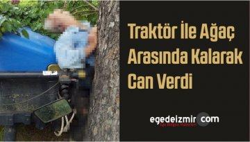 Traktör İle Ağaç Arasında Kalarak Can Verdi