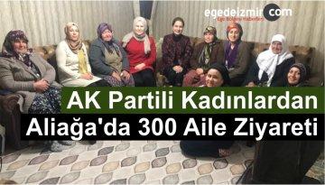 AK Partili Kadınlardan Aliağa'da 300 Aile Ziyareti