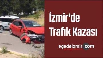 İzmir'in Buca İlçesinde Trafik Kazası