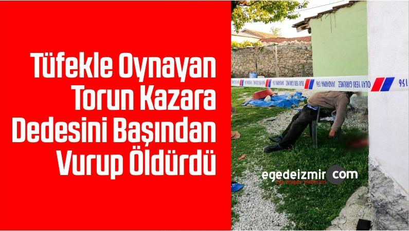Tüfekle Oynayan Torun Kazara Dedesini Başından Vurup Öldürdü