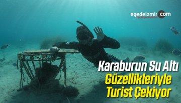 Karaburun Su Altı Güzellikleriyle Turist Çekiyor
