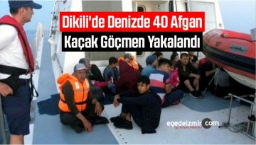 Dikili'de Denizde 40 Afgan Kaçak Göçmen Yakalandı