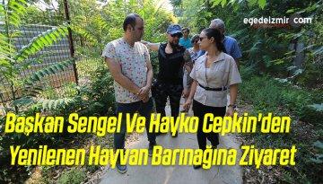 Başkan Sengel Ve Hayko Cepkin'den Yenilenen Hayvan Barınağına Ziyaret